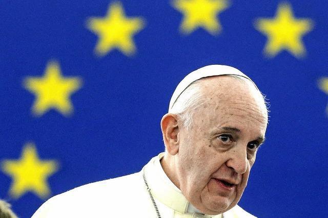 Papst: Europa könnte die Seele verlieren