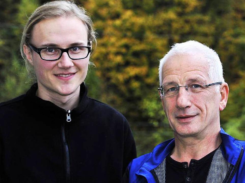 David Weldermann und Albert Scherr, Freiburger Forum Aktiv gegen Ausgrenzung  | Foto: Thomas Kunz