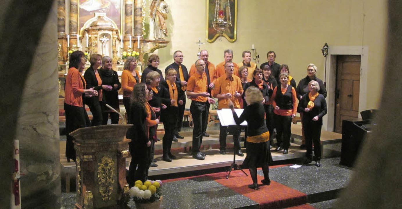 Von den elf Chören, die den Konzertabe...ischsprachiges mit viel Rhythmus bei.   | Foto: H. Häringer