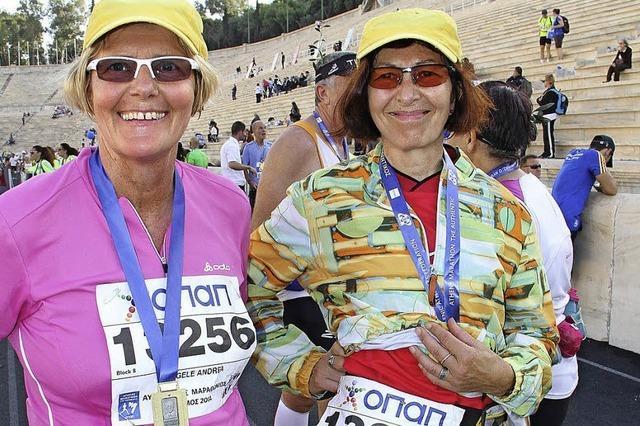 Marathonlauf auf historischem Boden