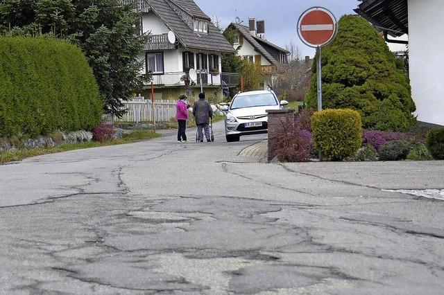 Investition in die Gemeindestraße