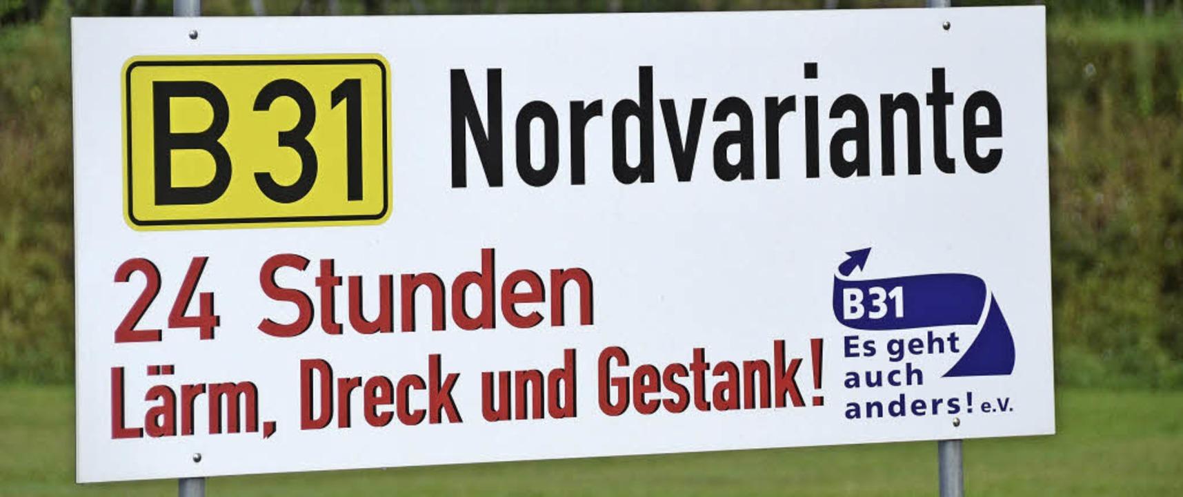 Die Bürgerinitiative wehrt sich vor al...favorisierte Nordtrasse der B 31 West.  | Foto: Archiv: Agnes Pohrt