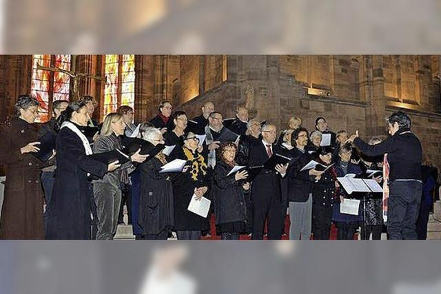 Singen für den Frieden