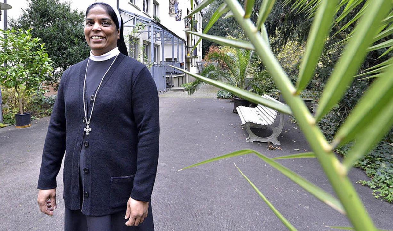 Seit 2013 im  Freiburger Mutterhaus: Schwester Lincy   | Foto: M. bamberger