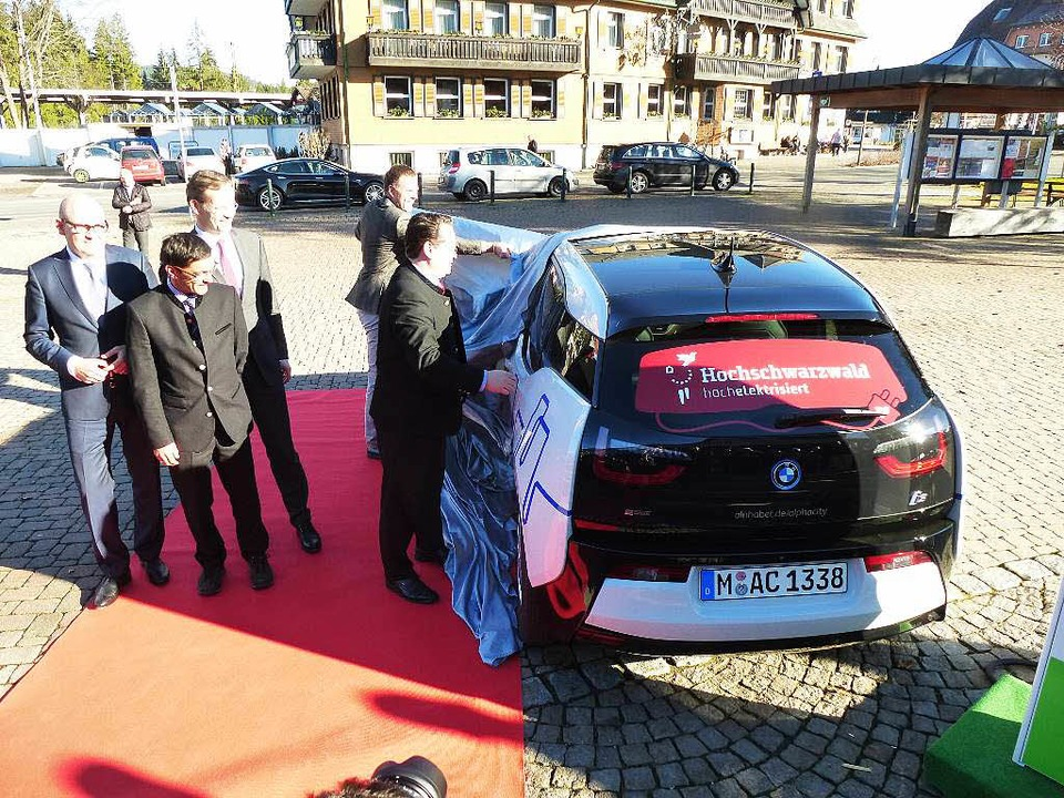 BMW i3 das künftige Fahrzeug der HTG    Foto: Peter Stellmach
