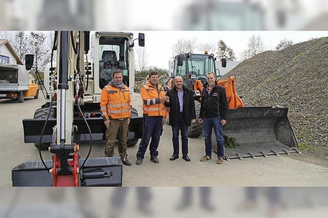 Zwei neue Bagger für den Bötzinger Bauhof
