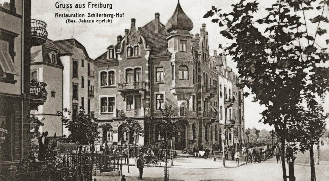 Sehr belebt war es vor der Restauratio...s die Ansicht um 1906 entstanden ist.     Foto: Archiv Manfred Gallo