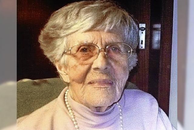 Eva Johannsen wird heute 95 Jahre alt