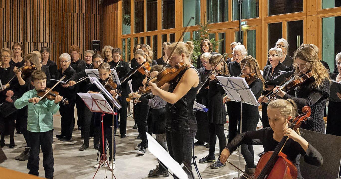 Junge Instrumentalisten der Musikschul...emeinsames Konzert zum ersten Advent.   | Foto: Helmut Rothermel