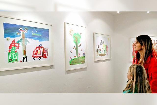Kinder malen für den Kinderschutz