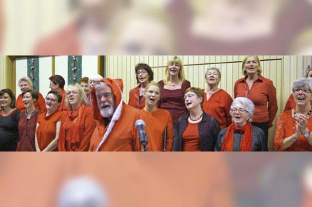 Marga Lederle vom Gospelchor Todtnau erntet großen Applaus