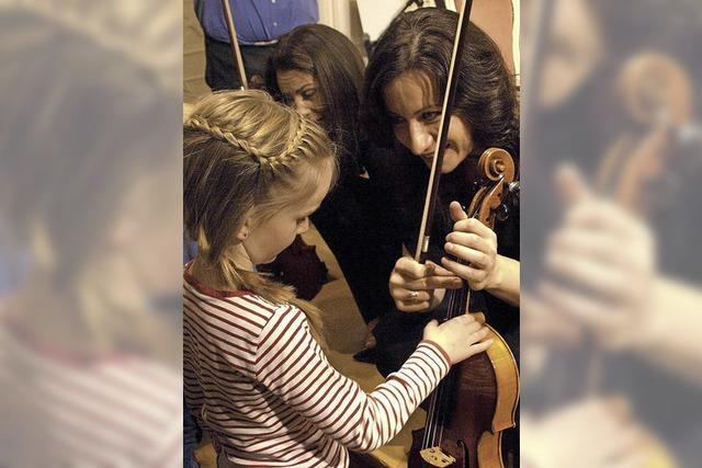 Kinder lassen sich für Musik begeistern