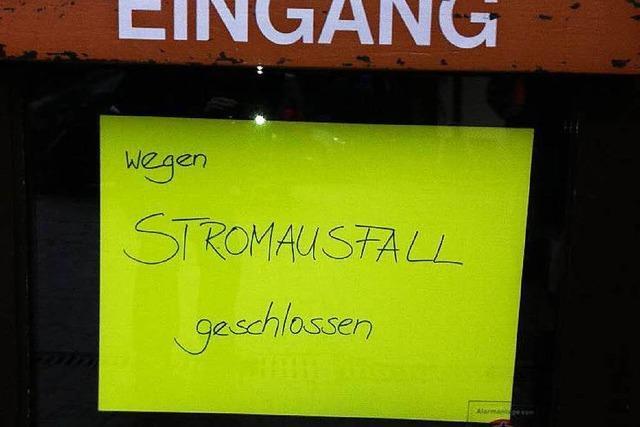 Stromausfall bremst vorübergehend Alltagstreiben in Müllhheim und Badenweiler aus