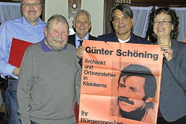 Ehre für Schöning, SPD-Bürgermeisterkandidat 1974