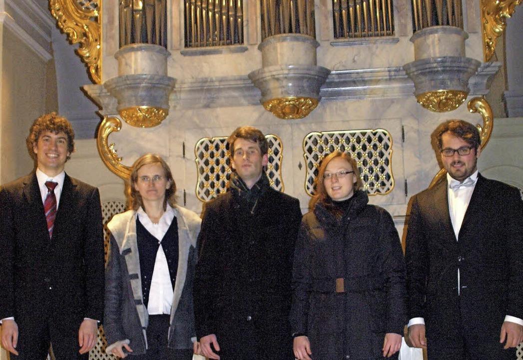 Norbert Englbrecht, Maria Masnicakova,...nburg in der Kirche St. Martin in Wehr  | Foto: Karin Stöckl-Steinebrunner