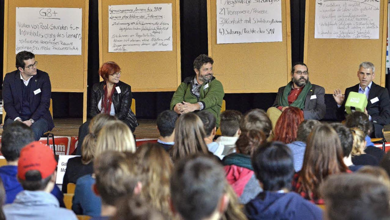 Landespolitiker aller Parteien wollten...n, was an den Schulen diskutiert wird.    Foto: Michael Bamberger