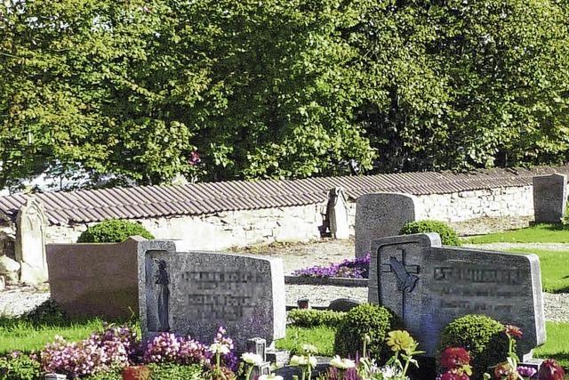 Friedhofsmauer soll stehen bleiben