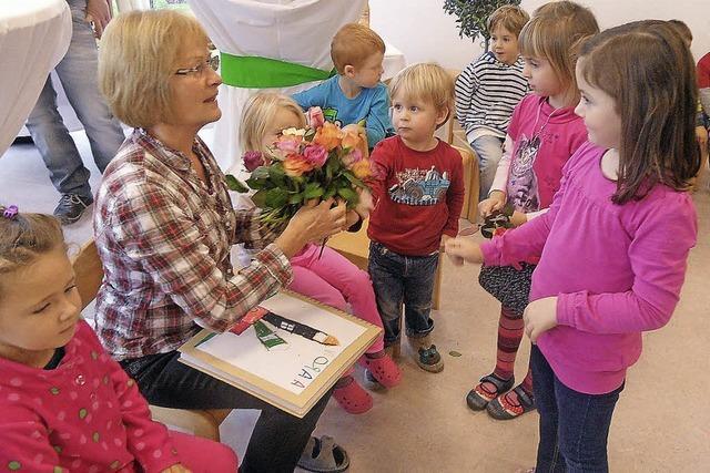 Abschied mit Rosen von Rita Keller in Buchenbach