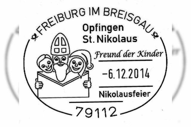 Nikolausstempel im Rathaus in Opfingen