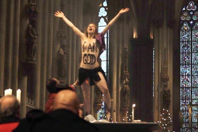 Femen-Aktivistin nach Protest im Kölner Dom verurteilt