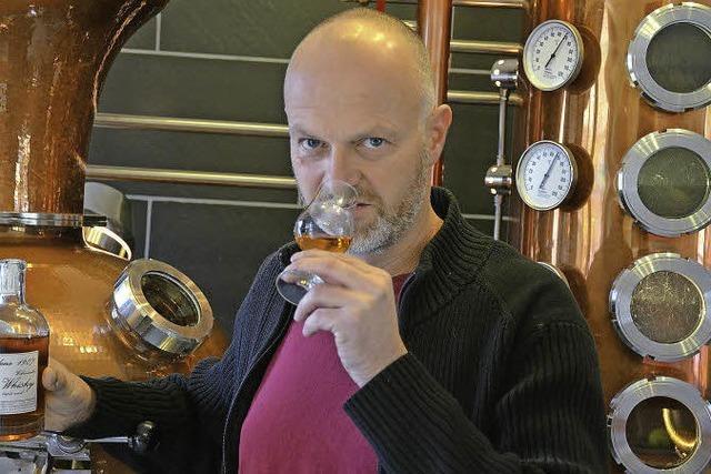 Frank Küchlin destilliert in Schallstadt Whiskey