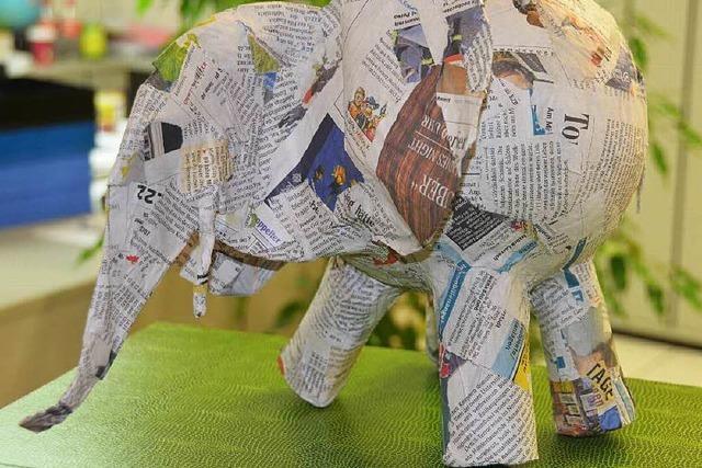 Ein Elefant zu Besuch bei der BZ