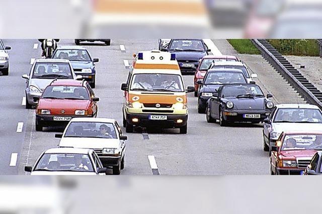 Freie Bahn für Rettungsautos