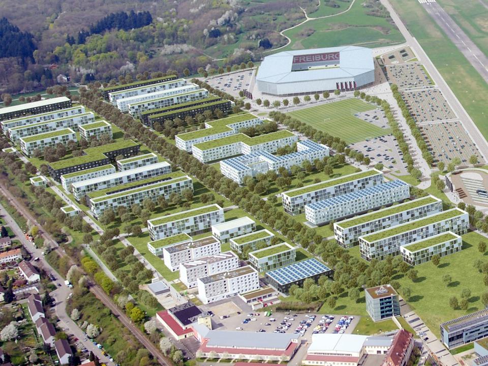 Am PC schon fertig: das neue SC-Stadion     Foto: BZ