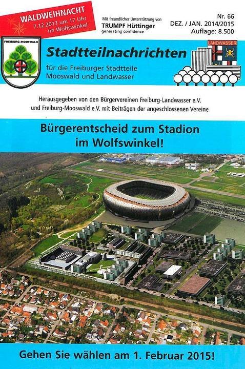 Think big: Die Titelseite der Mooswälder Stadtteilnachrichten  | Foto: Repro: BZ