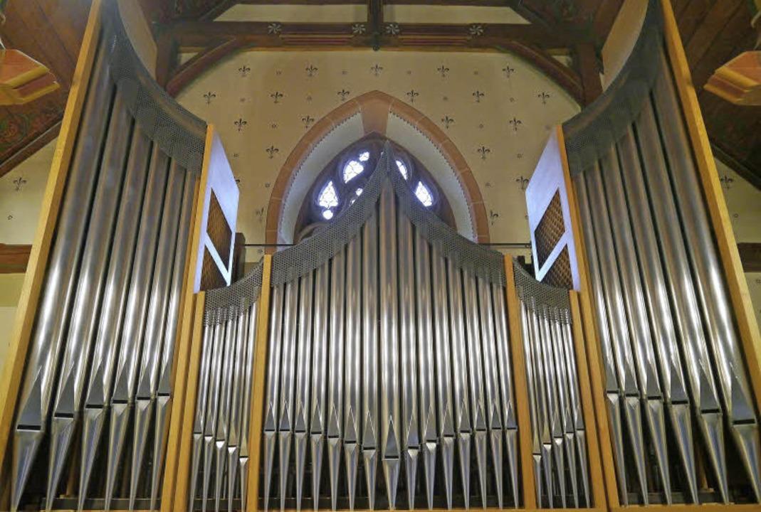 Die Orgel in der katholischen Pfarrkirche St. Blasius in Buchenbach   | Foto: Barbara Riess