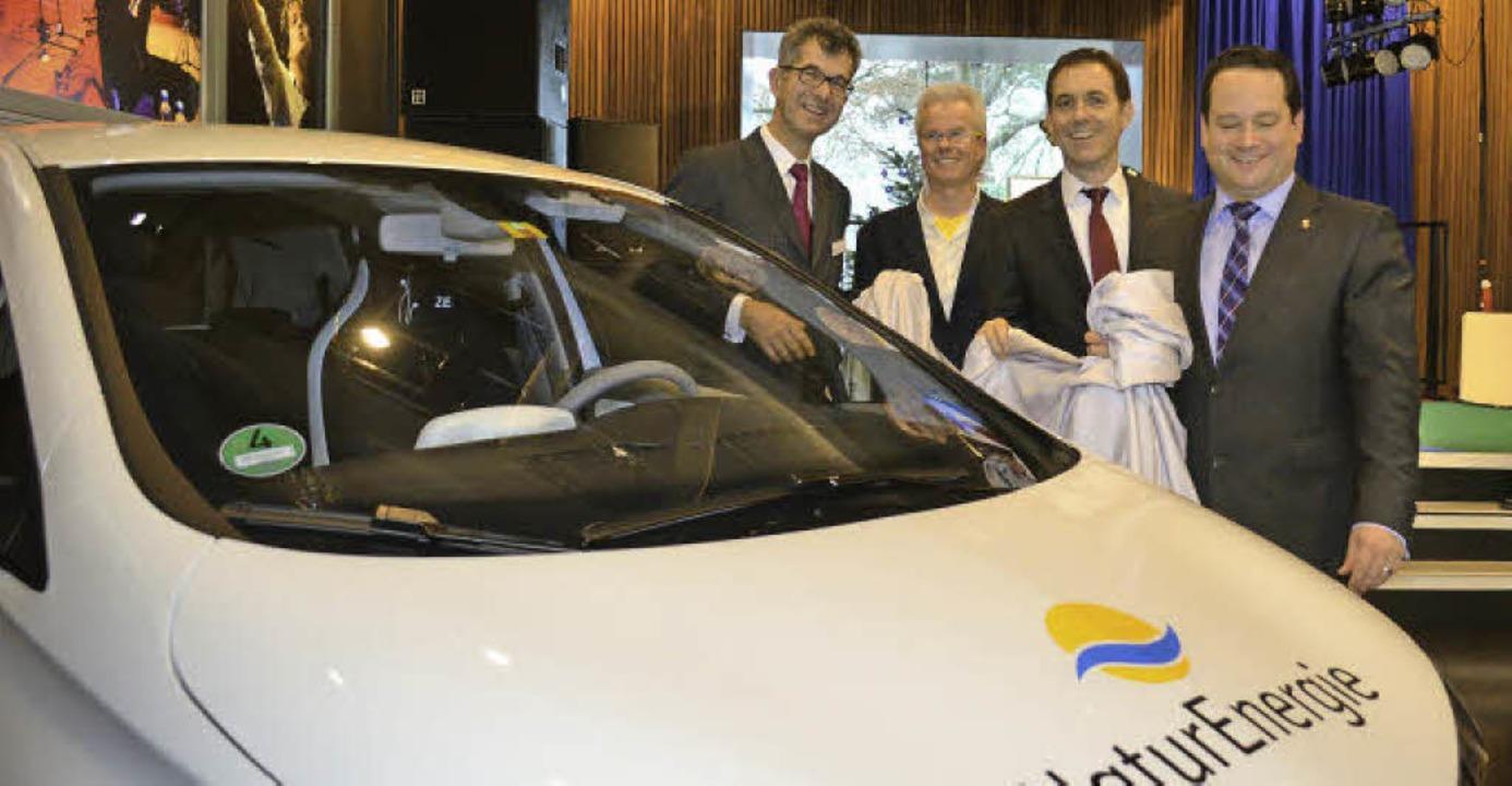 Mit neuer Flotte in die E-Mobilität: I...giedienst) eins von 40 neuen E-Autos.   | Foto: Nikolaus Trenz