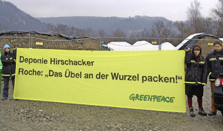 Bei der Sanierung der Deponie Hirschac...t, während die BASF am Pranger steht.   | Foto: Archivfoto: Ralf H. Dorweiler