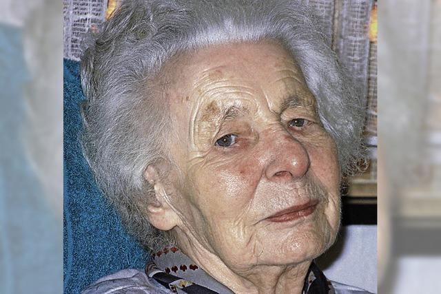 Die älteste Einwohnerin wird 100