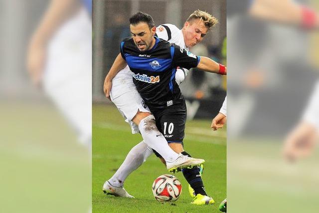 Der SC Freiburg gibt beim 1:1 in Paderborn kurz vor Schluss den Sieg aus der Hand
