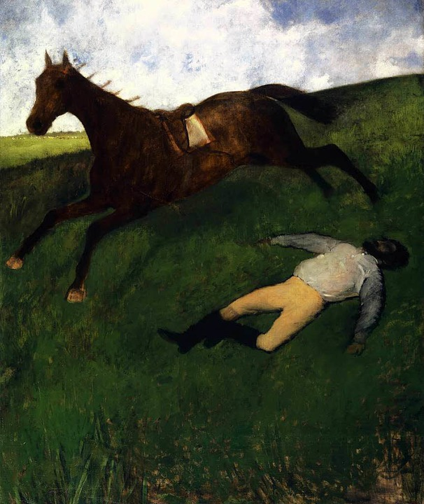 "Degas ""Jockey blessé"" ist ... Museum für Gegenwartskunst zu sehen.     Foto: KunstMuseum"