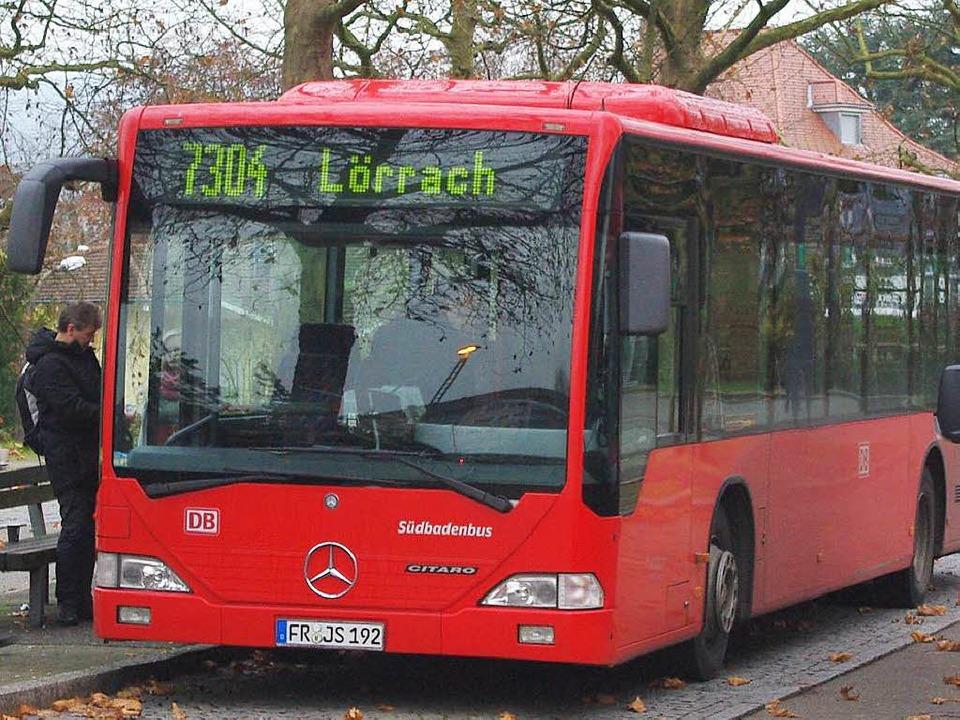 Ewas später abfahren und etwas länger ... Änderungen auf der Linie nach Lörrach    Foto: Rolf reissmann