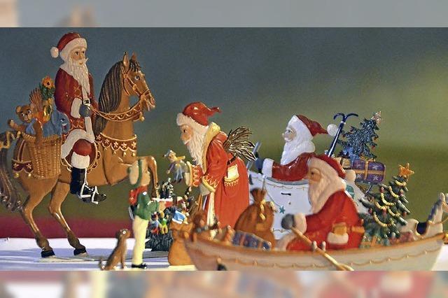 Perfekte Weihnachtskulisse im Schlosshof