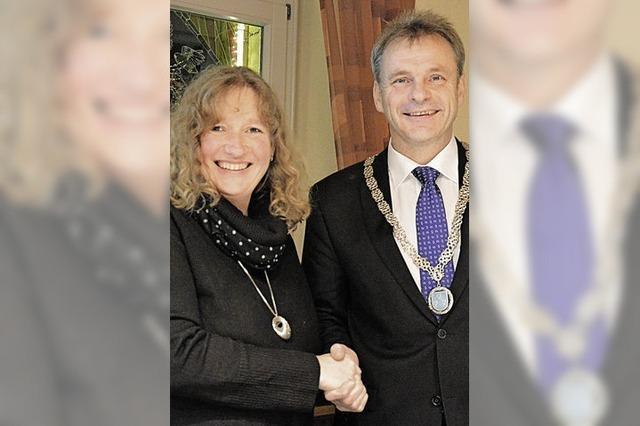 Dieter Hahn als Bürgermeister verpflichtet