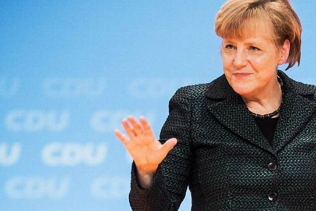 Merkel, fast wie eine Monarchin