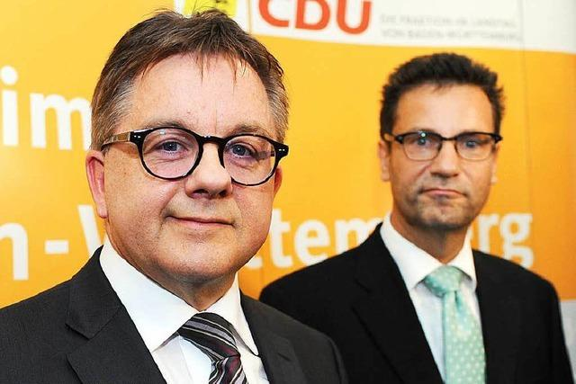 Hauk gibt Fraktionsvorsitz an CDU-Spitzenkandidat Wolf ab