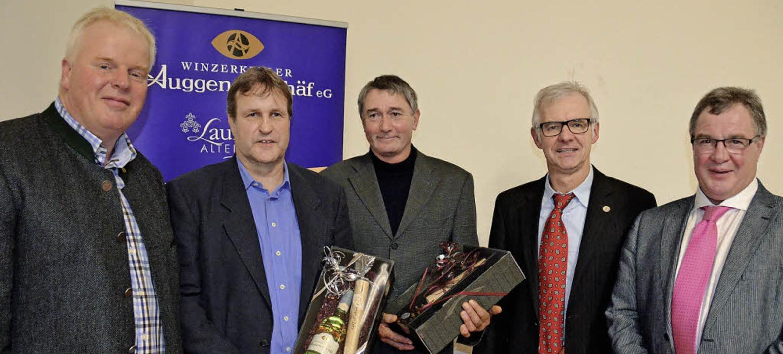 Jürgen Gugelmeier, Christian Zehr, Wol...Basler und Gundram Dreher (von links)   | Foto: Umiger