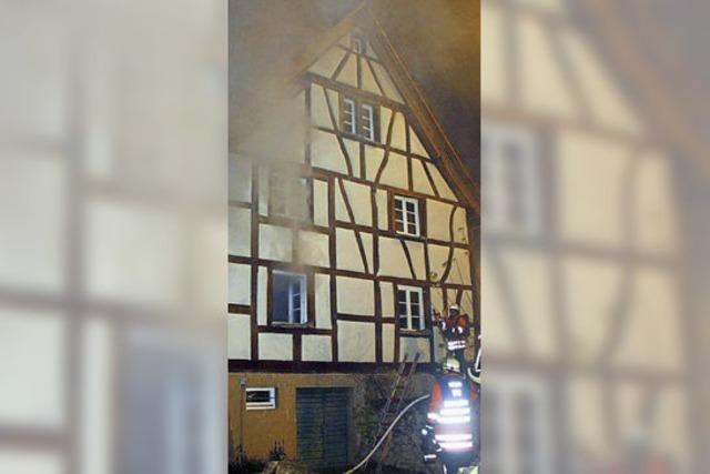 50 000 Euro Schaden bei Brand in Fachwerkhaus