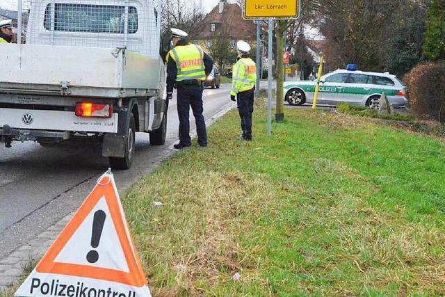 Polizei mit flächendeckenden Verkehrskontrollen gegen Einbrecher