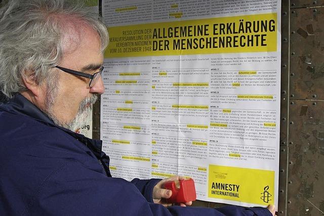 Erinnerung an die Menschenrechte