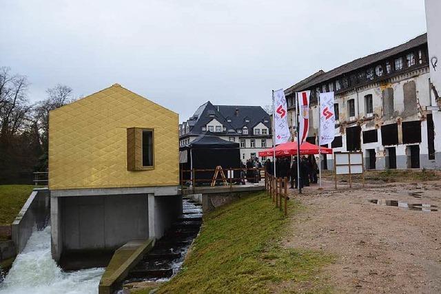 Das neue Mühlbach-Wasserkraftwerk soll das neue Weststadt-Wohnviertel mit sauberem Strom versorgen