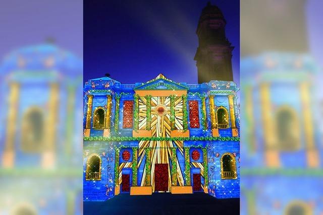 Festival Noël Bleu in Guebwiller: Blaue Weihnachtswelt