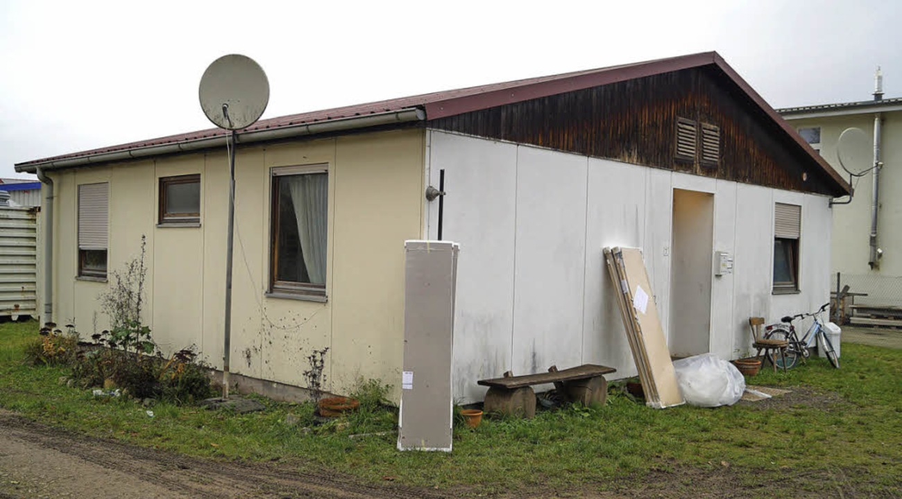 Ein Haus der  Schliengener Asylbewerberunterkunft   | Foto: Hartenstein