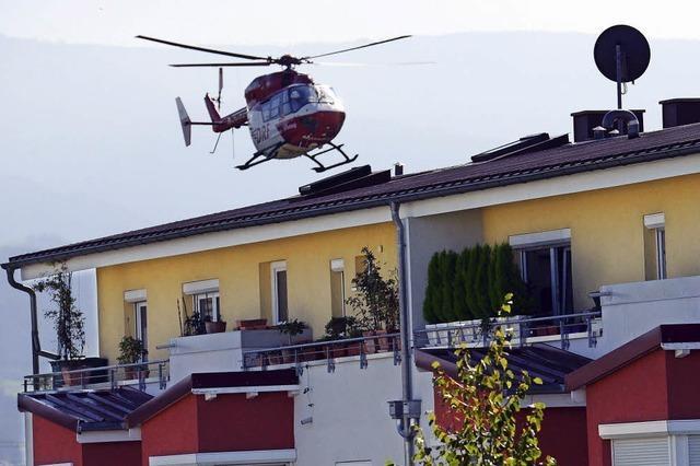 Immer öfter landen Notärzte jetzt per Hubschrauber in Freiburg - wegen 40 neuen Landeplätzen namens Hedra