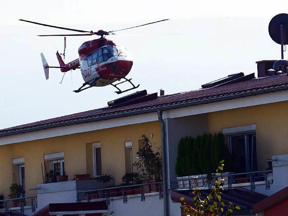 Wenn's schnell gehen muss: Hier ...t mit dem Hubschrauber ins Rieselfeld.  | Foto: Patrick Seeger