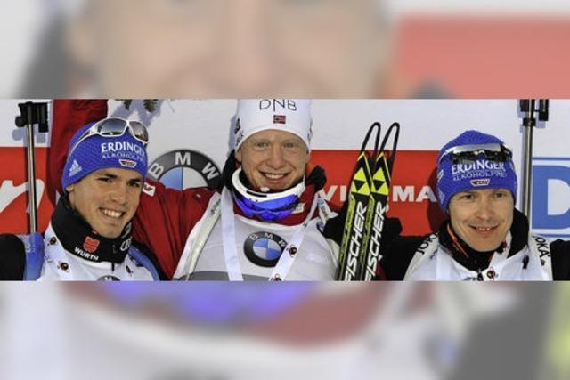 Auf dem Biathlon-Podest